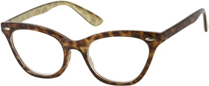 Angle of The Tamara in Brown Tortoise/Gold, Women's and Men's