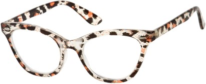 Angle of The Tamara in Clear/Brown Leopard, Women's and Men's