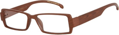 Angle of The Texas in Matte Brown Wood Print, Women's and Men's