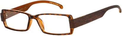 Angle of The Texas in Glossy Tortoise/Wood Print, Women's and Men's