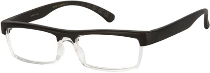 Angle of The Eugene in Matte Black/Clear, Women's and Men's