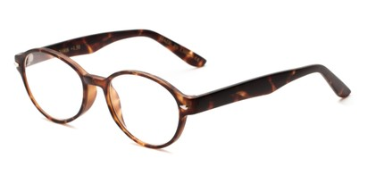 Angle of The Nitro in Matte Tortoise, Women's and Men's Round Reading Glasses