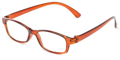Angle of The Walsh in Brown, Women's and Men's Rectangle Reading Glasses