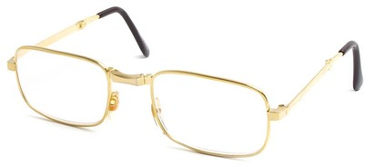 Angle of The Wilson Folding Reader in Gold, Women's and Men's