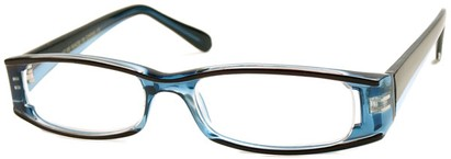 Angle of The Rae in Blue and Brown, Women's Rectangle Reading Glasses
