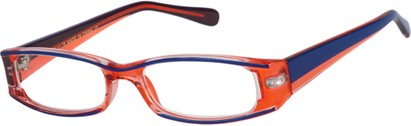 Angle of The Rae in Pink and Blue, Women's Rectangle Reading Glasses