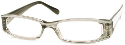 Angle of The Rae in Clear and White, Women's Rectangle Reading Glasses