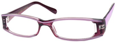Angle of The Rae in Purple and Lavender, Women's Rectangle Reading Glasses