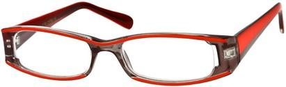 Angle of The Rae in Red and Grey, Women's Rectangle Reading Glasses