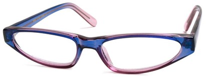 Angle of The Aileen in Purple and Blue, Women's Cat Eye Reading Glasses