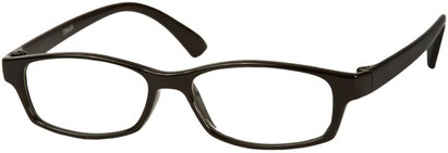 Angle of The Walsh in Black, Women's and Men's Rectangle Reading Glasses