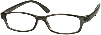 Angle of The Walsh in Grey, Women's and Men's Rectangle Reading Glasses