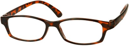 Angle of The Walsh in Brown Tortoise, Women's and Men's Rectangle Reading Glasses