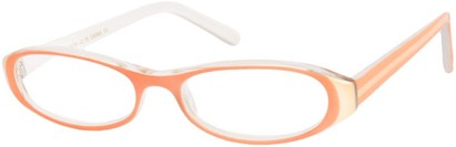 Angle of The Imogen in Peach/White, Women's and Men's