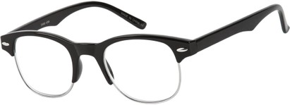 Angle of The Cromwell in Black/Silver, Women's and Men's