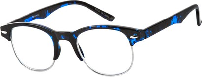 Angle of The Cromwell in Blue Tortoise/Silver, Women's and Men's