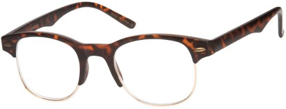Angle of The Cromwell in Matte Brown Tortoise/Gold, Women's and Men's
