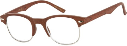 Angle of The Cromwell in Brown Wood/Silver, Women's and Men's