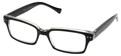 Angle of The Bayside in Black and Clear Frame, Women's and Men's