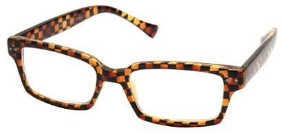 Angle of The Bayside in Brown Checkered Frame, Women's and Men's