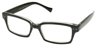Angle of The Bayside in Grey Striped Frame, Women's and Men's