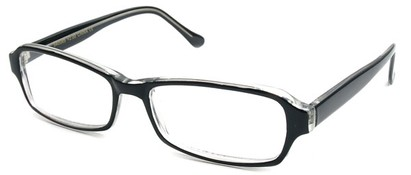Angle of The Glenwood in Black and Clear Frame, Women's and Men's