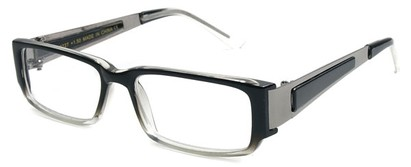 Angle of The Jetson in Black/Clear and Grey Frame, Women's and Men's