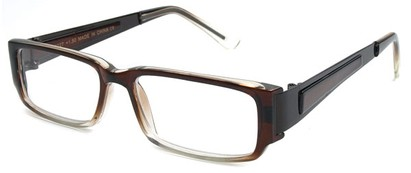 Angle of The Jetson in Brown/Clear and Bronze Frame, Women's and Men's