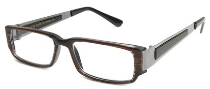 Angle of The Jetson in Brown Stripe and Grey Frame, Women's and Men's