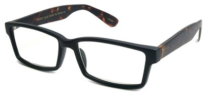 Angle of The Snider in Matte Black with Tortoise Frame, Women's and Men's