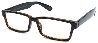 Angle of The Snider in Glossy Tortoise with Black Frame, Women's and Men's