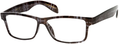 Angle of The Richard in Grey Plaid, Women's and Men's