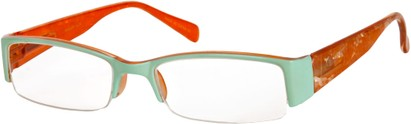 Angle of The Presley in Mint Green/Orange Marble, Women's and Men's