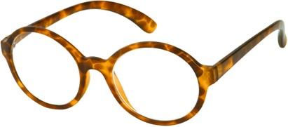 Angle of The Sheldon in Matte Brown Tortoise, Women's and Men's