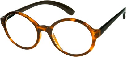 Angle of The Sheldon in Glossy Brown Tortoise with Black Temples, Women's and Men's