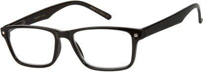 Angle of The Windsor in Black, Women's and Men's Retro Square Reading Glasses