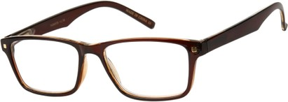 Angle of The Windsor in Brown, Women's and Men's Retro Square Reading Glasses