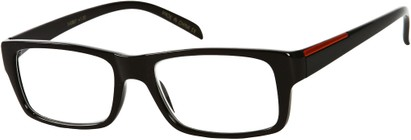 Angle of The Panama in Black, Women's and Men's Retro Square Reading Glasses