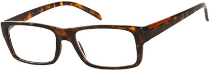 Angle of The Panama in Brown Tortoise, Women's and Men's Retro Square Reading Glasses