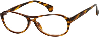 Angle of The Telluride in Orange Tortoise, Women's and Men's
