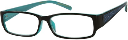 Angle of The Melrose in Black/Teal Blue, Women's and Men's