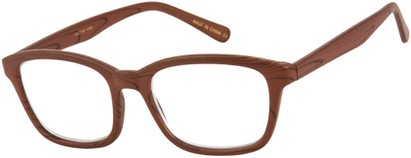 Angle of The Rustic in Brown, Women's and Men's Retro Square Reading Glasses