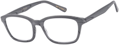Angle of The Rustic in Grey, Women's and Men's Retro Square Reading Glasses