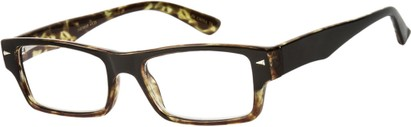 Angle of The Kirk in Tan/Brown Tortoise, Women's and Men's Rectangle Reading Glasses