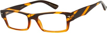 Angle of The Kirk in Brown Stripe, Women's and Men's Rectangle Reading Glasses