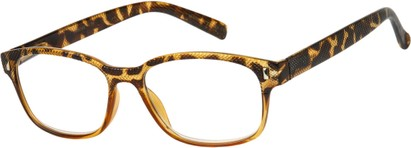 Angle of The Barker in Tan/Tortoise, Women's and Men's Retro Square Reading Glasses