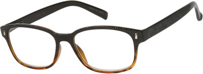 Angle of The Barker in Black/Brown Tortoise, Women's and Men's Retro Square Reading Glasses