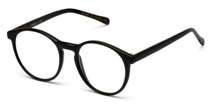 Angle of The Caesar in Matte Black, Women's and Men's Round Reading Glasses