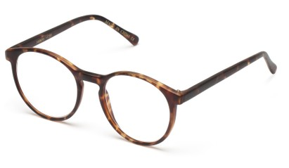 Angle of The Caesar in Matte Tortoise, Women's and Men's Round Reading Glasses