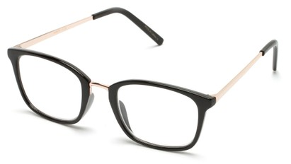 Angle of The Roland in Black/Gold, Women's and Men's Square Reading Glasses